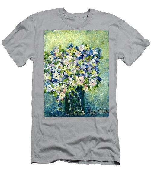 Grandma's Flowers Men's T-Shirt (Athletic Fit)