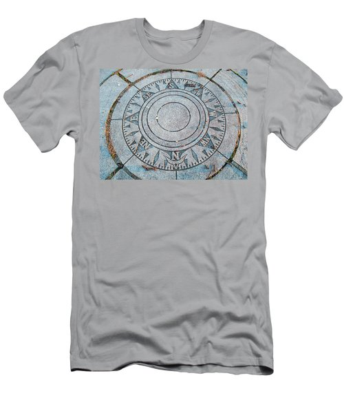 Men's T-Shirt (Slim Fit) featuring the photograph Granite Compass by Barbara McDevitt