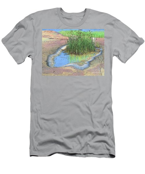 Grass Growing On Rocks Men's T-Shirt (Slim Fit)