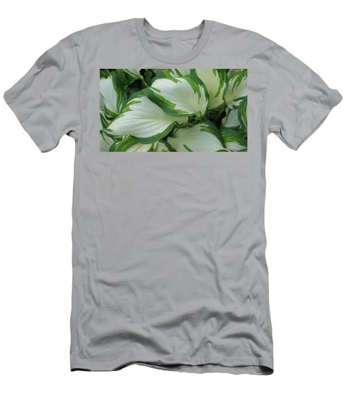 Green And White Men's T-Shirt (Athletic Fit)
