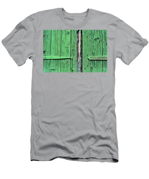 Green Door Men's T-Shirt (Slim Fit) by Steve Archbold