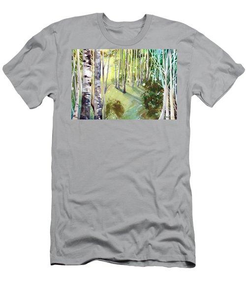 Green Sun Men's T-Shirt (Athletic Fit)