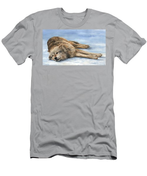 Grey Wolf Painting Men's T-Shirt (Athletic Fit)