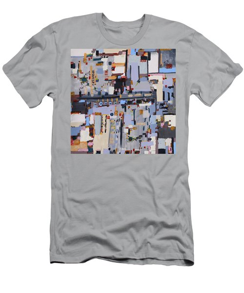 Gridlock Men's T-Shirt (Slim Fit) by Regina Valluzzi
