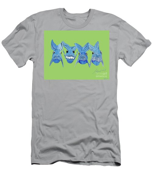 Grinning Fish Men's T-Shirt (Athletic Fit)
