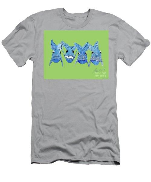 Grinning Fish Men's T-Shirt (Slim Fit) by Lizi Beard-Ward