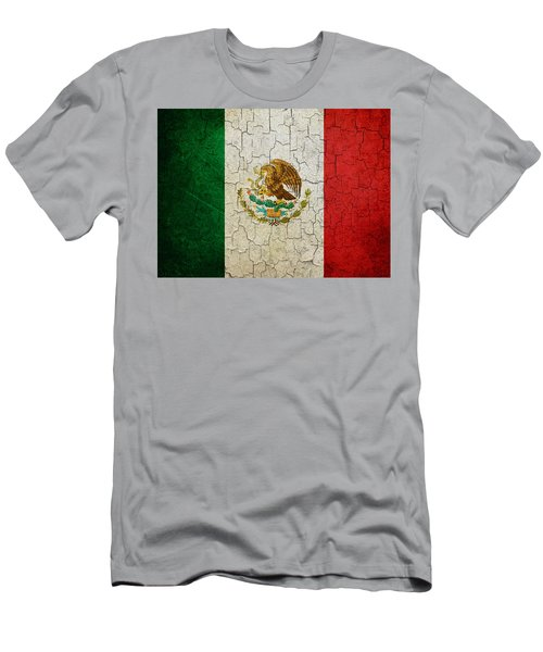 Grunge Mexico Flag Men's T-Shirt (Athletic Fit)