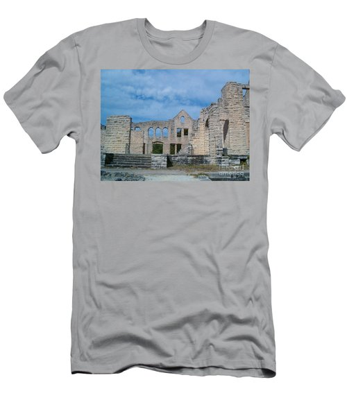 Men's T-Shirt (Slim Fit) featuring the photograph Haha Tonka Castle 1 by Sara  Raber