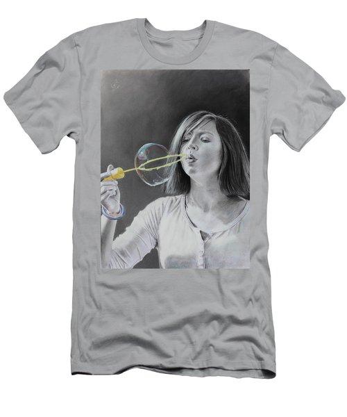 Bubble Girl Men's T-Shirt (Athletic Fit)