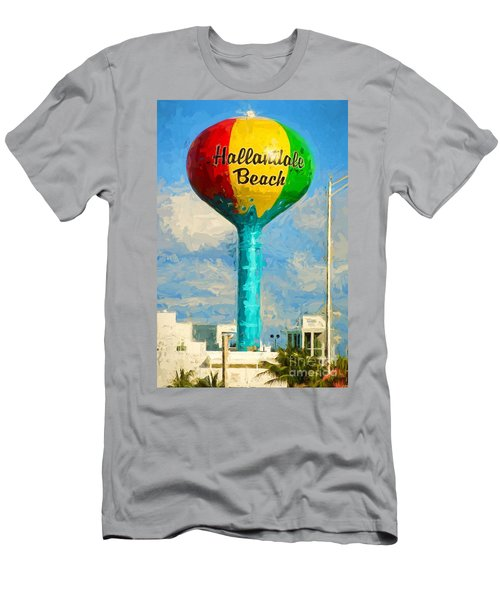 Hallandale Beach Water Tower Men's T-Shirt (Athletic Fit)