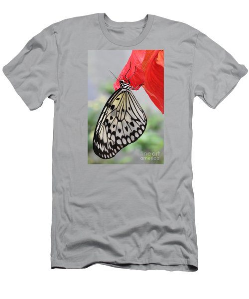 Men's T-Shirt (Slim Fit) featuring the photograph Hanging On #2 by Judy Whitton