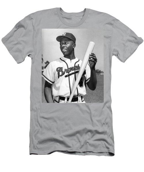 Hank Aaron Poster Men's T-Shirt (Athletic Fit)