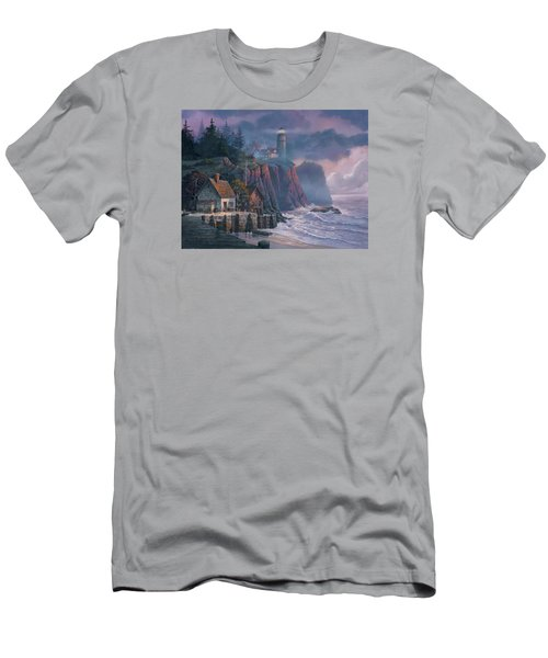 Harbor Light Hideaway Men's T-Shirt (Slim Fit) by Michael Humphries
