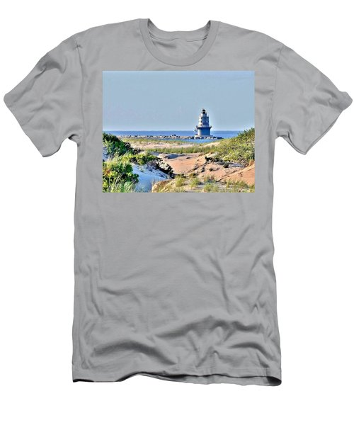 Harbor Of Refuge Lighthouse Men's T-Shirt (Athletic Fit)