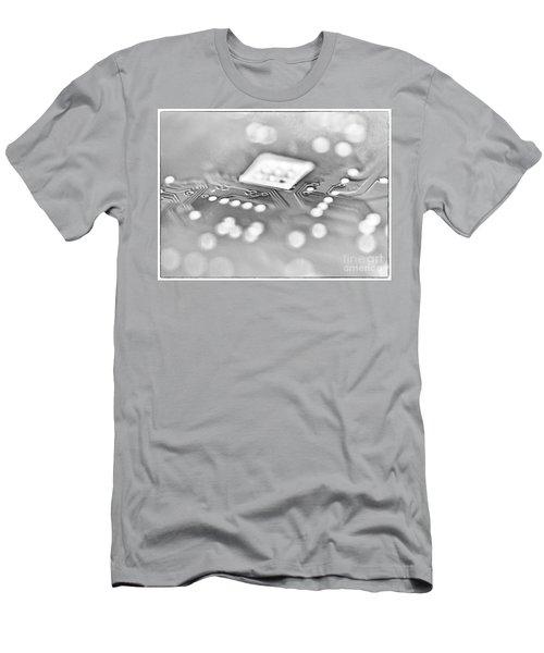 Hartddrive High Key Black And White Men's T-Shirt (Athletic Fit)