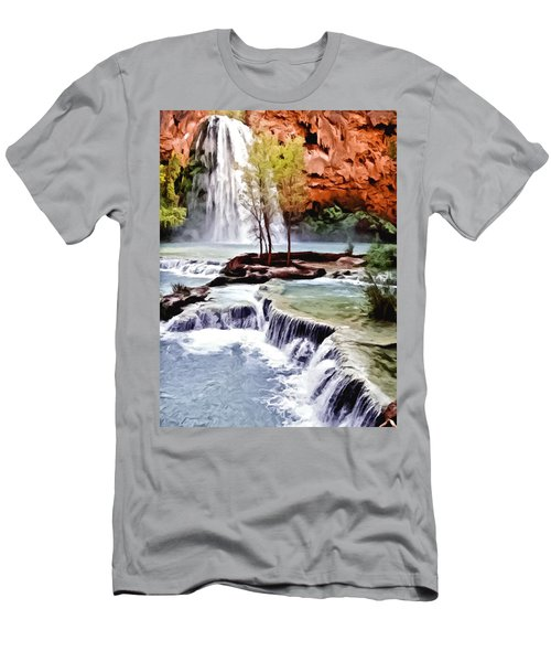 Havasau Falls Painting Men's T-Shirt (Athletic Fit)