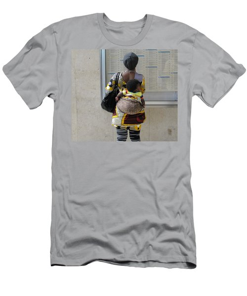 Men's T-Shirt (Slim Fit) featuring the photograph Have Baby Will Travel by Natalie Ortiz