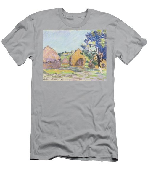 Haystacks At Saint Cheron Men's T-Shirt (Athletic Fit)