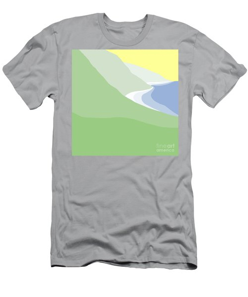 Hazy Coastline Men's T-Shirt (Athletic Fit)