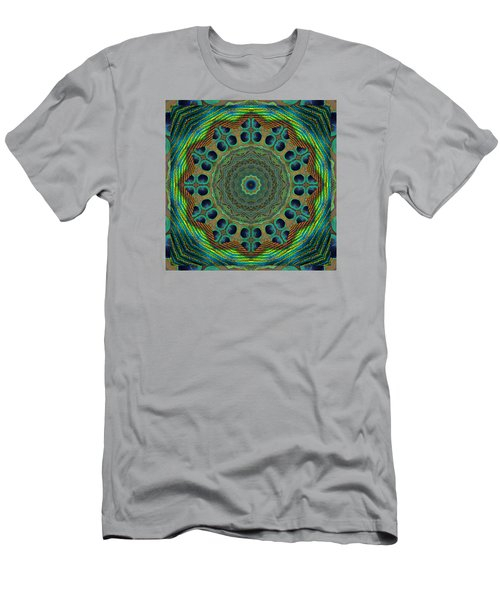 Men's T-Shirt (Slim Fit) featuring the photograph Healing Mandala 19 by Bell And Todd