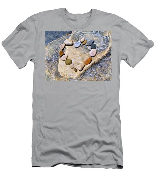 Heart And Stones  Men's T-Shirt (Athletic Fit)