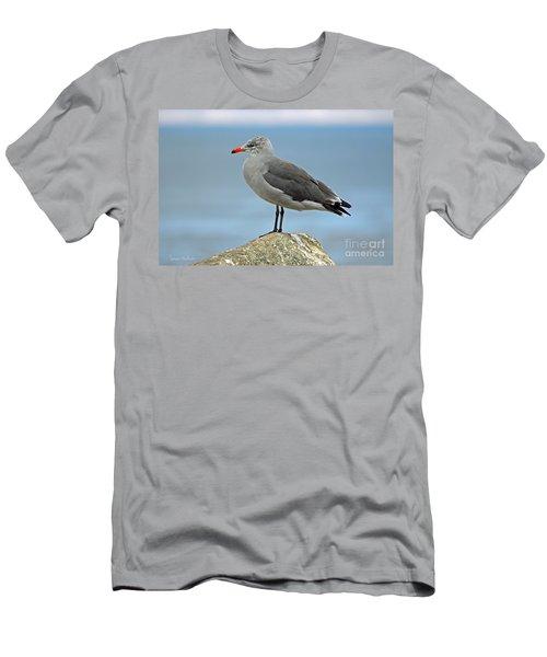 Men's T-Shirt (Slim Fit) featuring the photograph Heermann's Gull In Profile by Susan Wiedmann