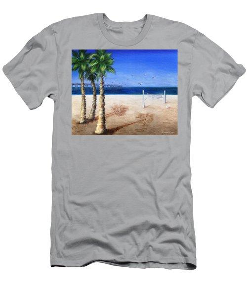Hermosa Beach Pier Men's T-Shirt (Athletic Fit)