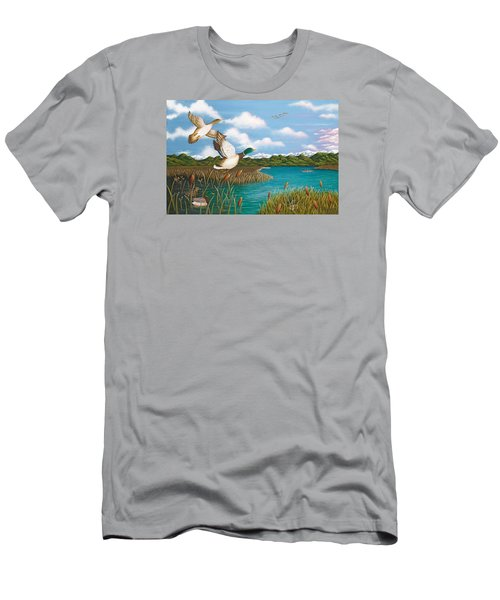 Hiding Out Men's T-Shirt (Slim Fit) by Katherine Young-Beck