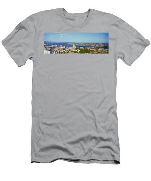 High Angle View Of A Cityscape, Chateau Men's T-Shirt (Athletic Fit)