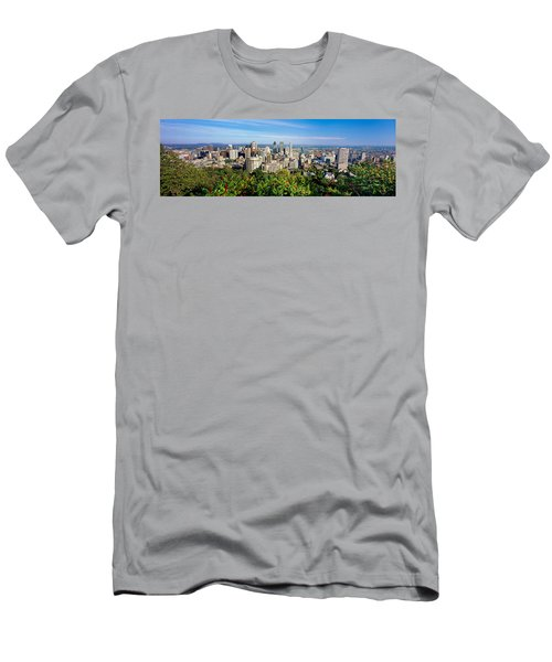 High Angle View Of A Cityscape, Parc Men's T-Shirt (Athletic Fit)
