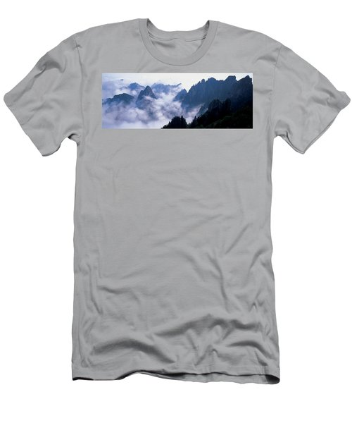 High Angle View Of Misty Mountains Men's T-Shirt (Athletic Fit)