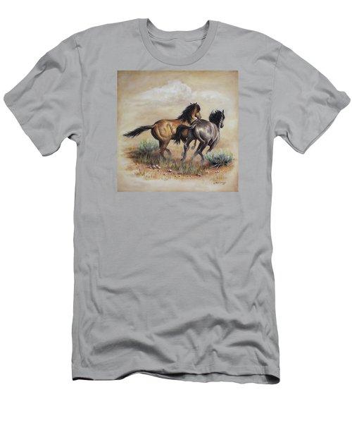 High Tailin' It Men's T-Shirt (Slim Fit) by Kim Lockman