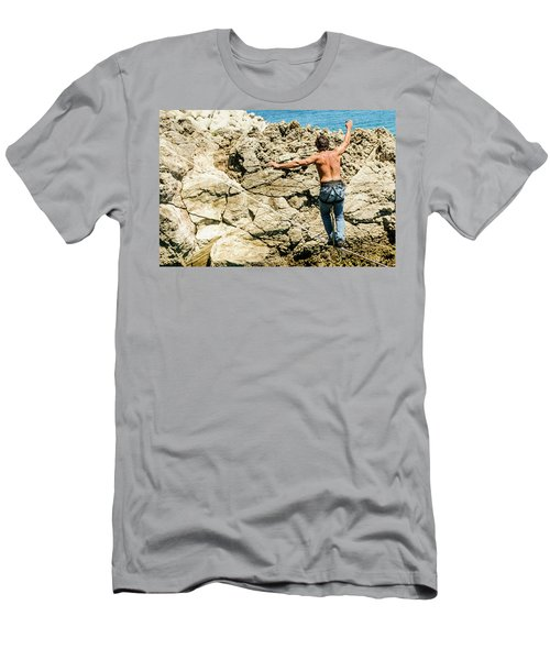 Highlining Over The Sea Men's T-Shirt (Athletic Fit)