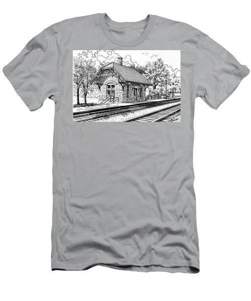 Highlands Train Station Men's T-Shirt (Athletic Fit)