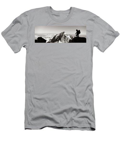 Hiker, Grand Teton Park, Wyoming, Usa Men's T-Shirt (Athletic Fit)
