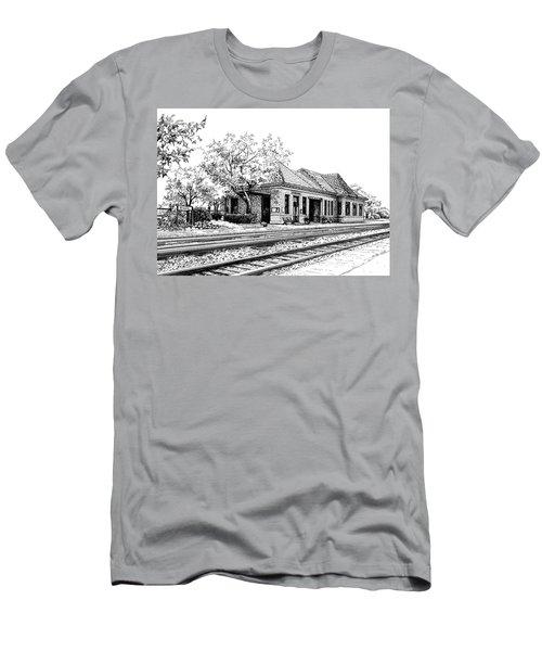 Hinsdale Train Station Men's T-Shirt (Athletic Fit)