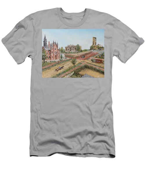 Historic Street - Lawrence Kansas Men's T-Shirt (Athletic Fit)