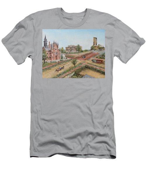 Historic Street - Lawrence Ks Men's T-Shirt (Athletic Fit)
