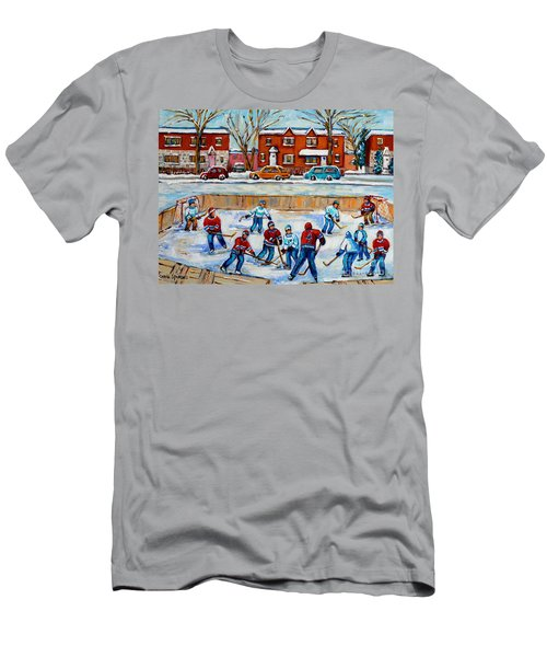 Hockey Rink At Van Horne Montreal Men's T-Shirt (Athletic Fit)