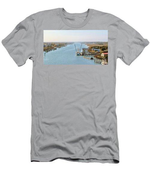 Holden Beach In Nc Men's T-Shirt (Slim Fit) by Cynthia Guinn
