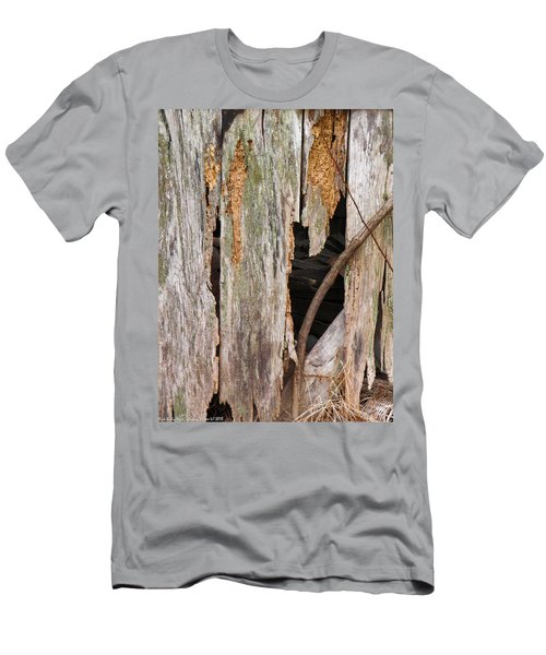Men's T-Shirt (Slim Fit) featuring the photograph Holey Smokehouse by Nick Kirby