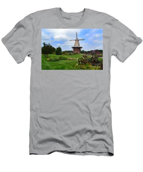 Holland Michigan Windmill Landscape Men's T-Shirt (Athletic Fit)