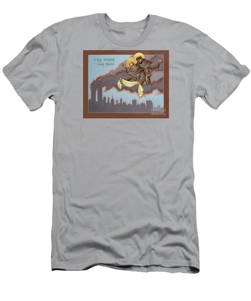 Holy Passion Bearer Mychal Judge 132 Men's T-Shirt (Slim Fit) by William Hart McNichols