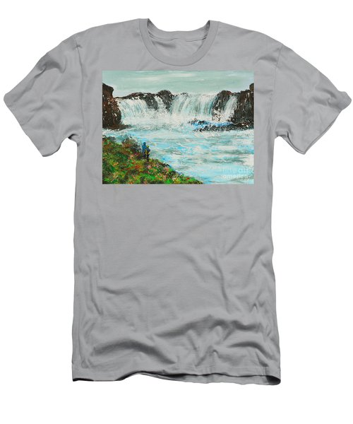 Honeymoon At Godafoss Men's T-Shirt (Athletic Fit)