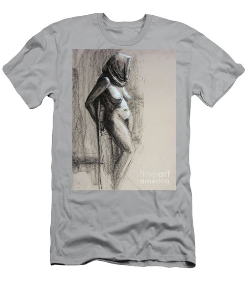 Men's T-Shirt (Athletic Fit) featuring the drawing Hood by Gabrielle Wilson-Sealy