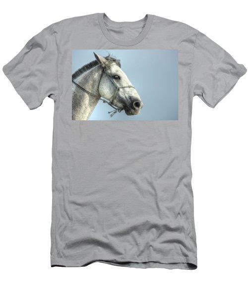Men's T-Shirt (Slim Fit) featuring the photograph Horse Head-shot by Eti Reid