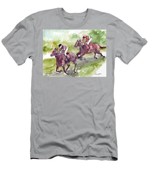 Horse Racing Men's T-Shirt (Slim Fit) by Faruk Koksal