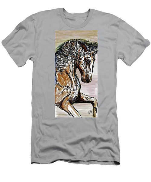 Horse Twins I Men's T-Shirt (Athletic Fit)