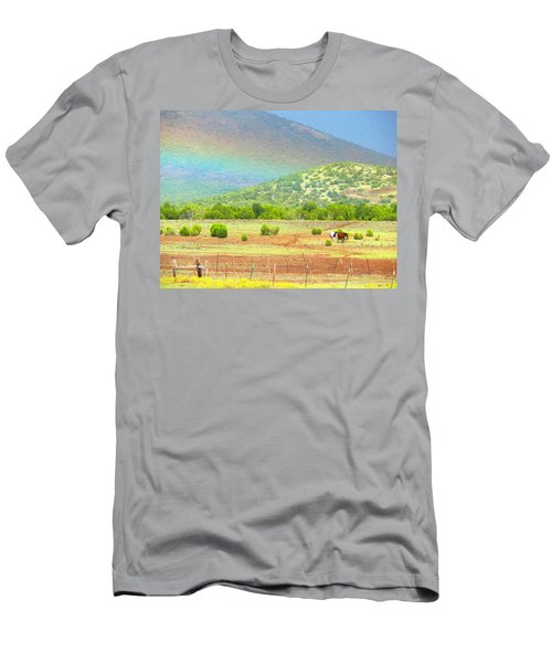 Horses At The End Of The Rainbow Men's T-Shirt (Athletic Fit)