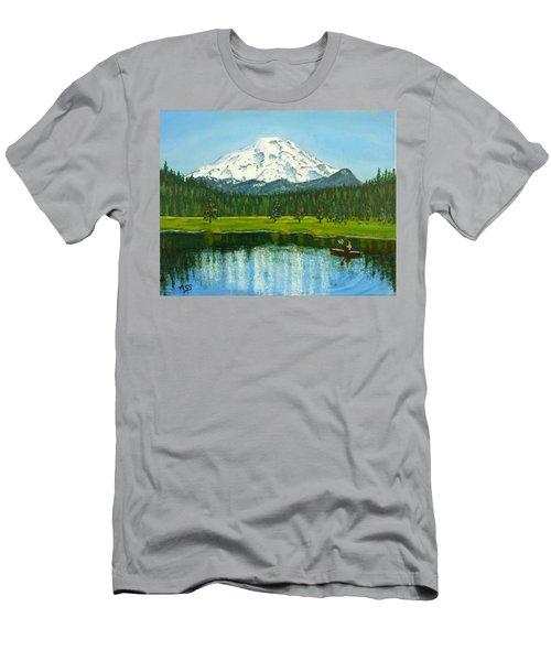 Hosmer Lake Men's T-Shirt (Athletic Fit)